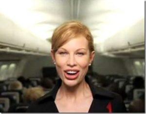 Delta flight attendant Katherine Lee[3]